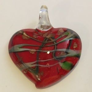 Jewelry - ⭐️ 3 for $10 - Red glass heart pendant
